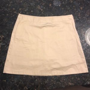 Lands End Ladies 6 Beige A-line Skort